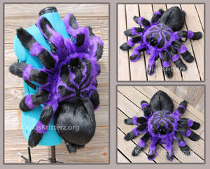 Purple Bloom Tarantula: Plushie Backpack