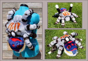 Peacock Jumping Spider: Plushie Backpack