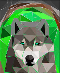 Low poly wolf final version