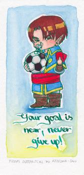 Goal - Encouragement card to Azzedar-san