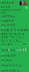 Blake Belladonna sprite sheet by LK-sixtyfour