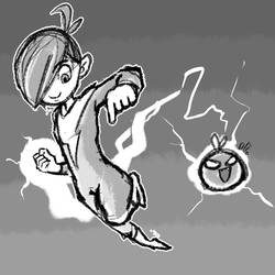 Draw Every Day: #13: Bolt Boy and Electromato by NinthTale