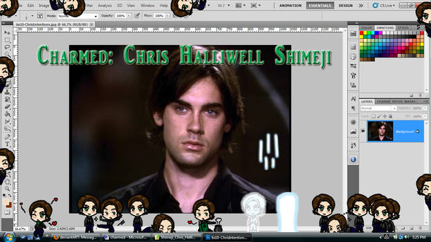 Charmed: Chris Halliwell Shimeji Download