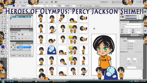 Heroes of Olympus: Percy Jackson Shimeji DL