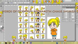 Heroes of Olympus: Annabeth Chase Shimeji DL
