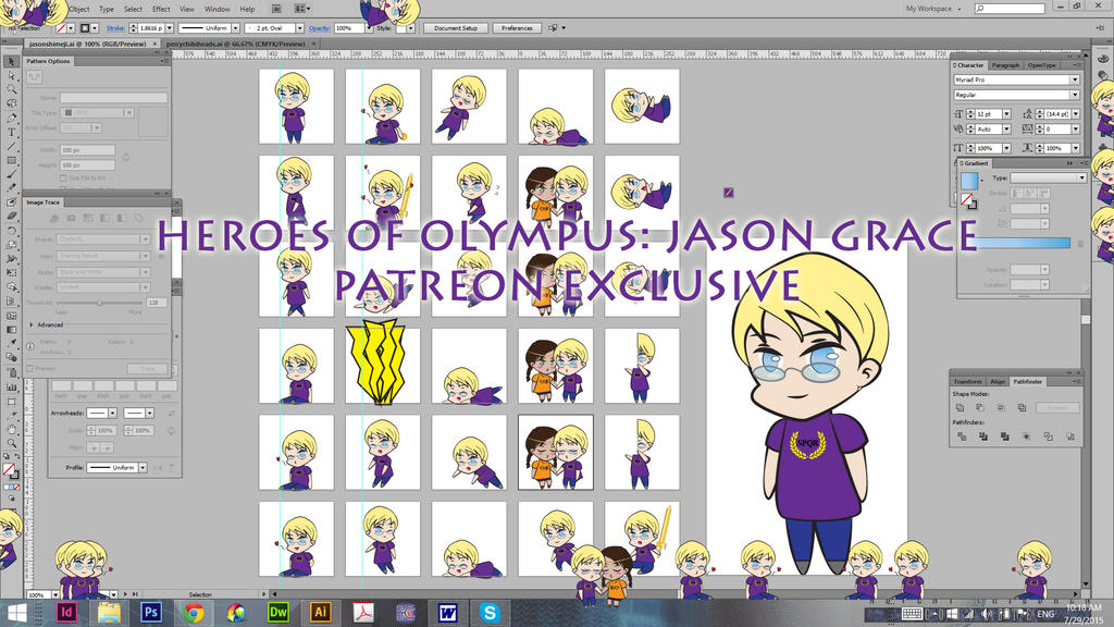 Jason Grace Shimeji-Full Shimeji Patreon Exclusive by TionneDawnstar