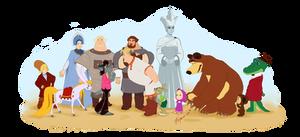 Russian cartoon characters