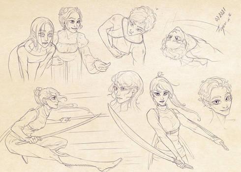 Characters' exploration II