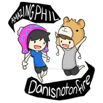 AmazingPhil and Danisnotonfire T-Shirt Design