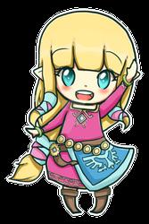 Chibi SW Zelda Hylia by Zel-Duh