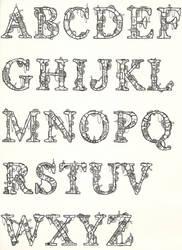 Robotic Alphabet by Eliasklingen