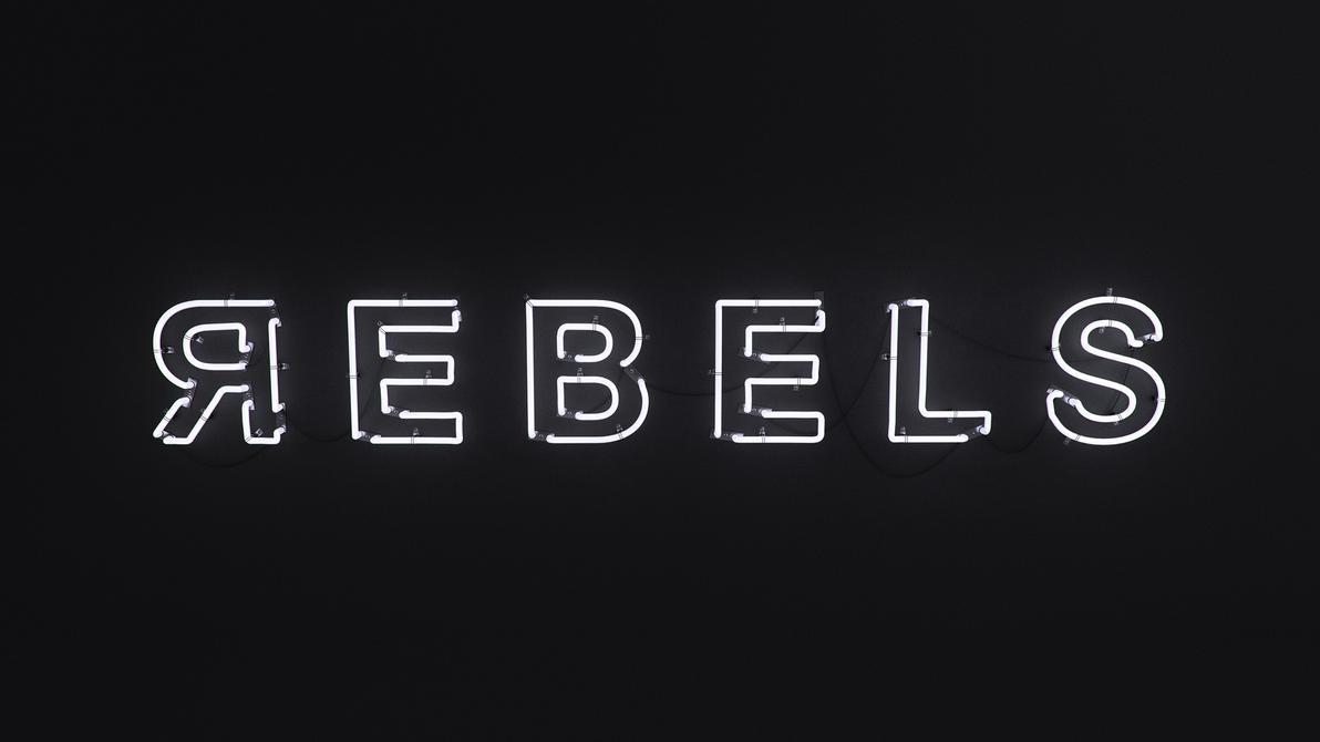 REBELS - 3D Neon sign by Eliasklingen