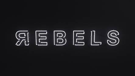 REBELS - 3D Neon sign