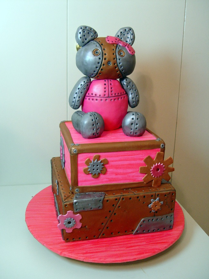 Steampunk Hello Kitty Cake by stacylambert on DeviantArt