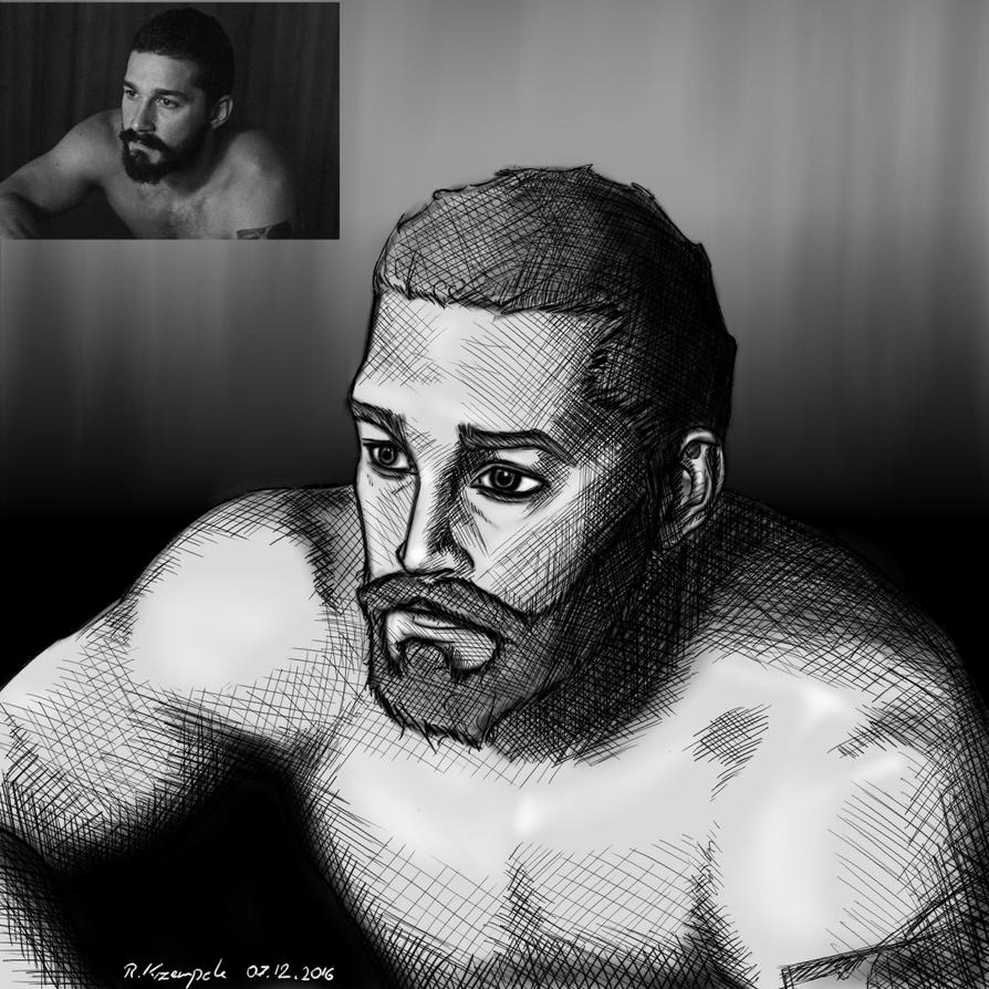 Shia LaBeouf Portrait by TotallyAnArtist