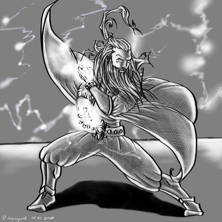 Thunder Monk by TotallyAnArtist