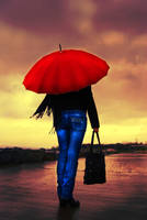 Red Umbrella by sezginmesut