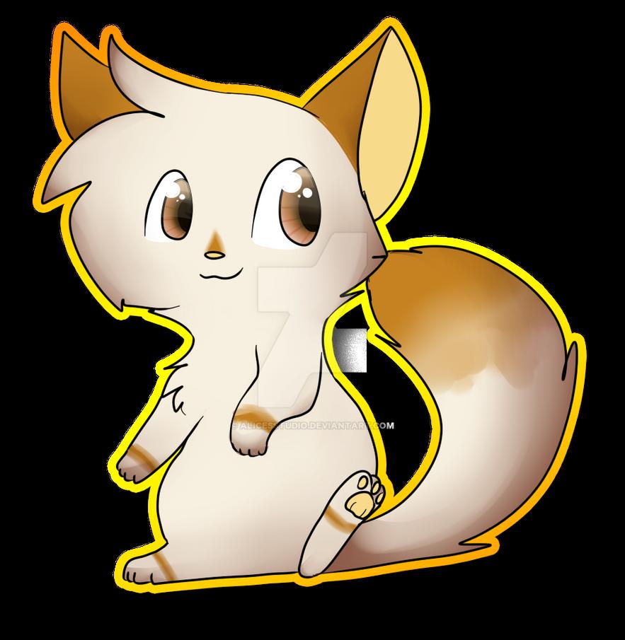 Chibi kitty by alicesstudio