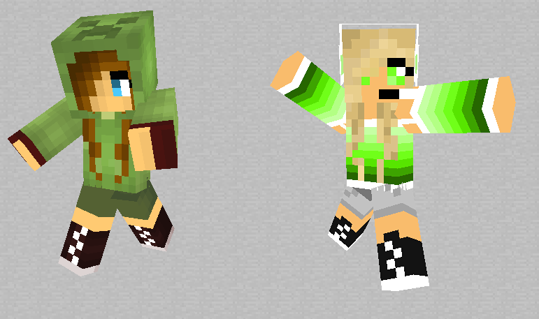 Me and Blacky (minecraft skins) by alicesstudio