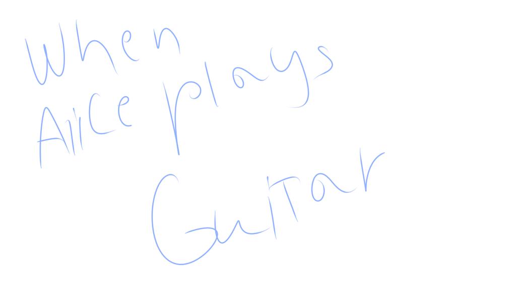 When Alice Plays Guitar by alicesstudio