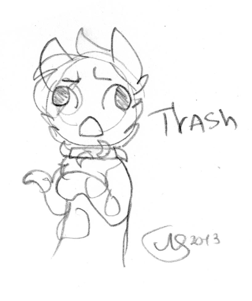 Derp Trash Sketch by alicesstudio