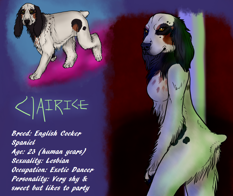 Clairice The Cocker Spaniel ref by galianogangster