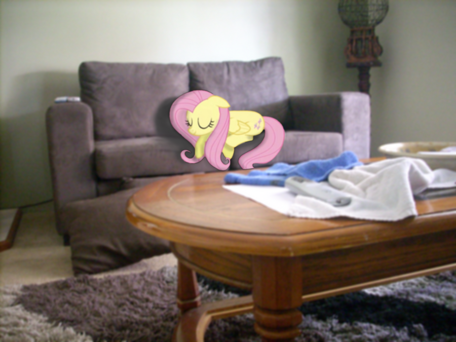 Fluttershy sleeping on my couch by westjgames on deviantart for Couch you can sleep on
