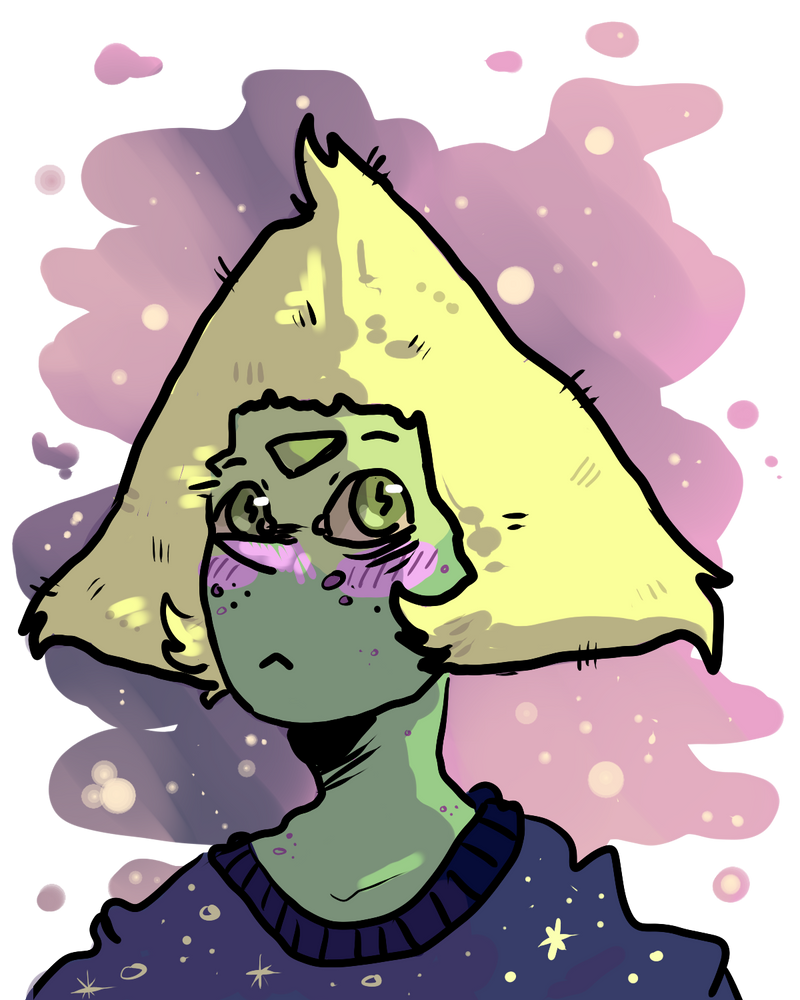 Drew peridot again bc she's my favourite   Also first picture drawn with the Cintiq that I got from PrinceofAces  Thaks again my dude this thing is beautiful <3
