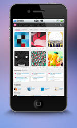 Dribbble Mobile Redesign