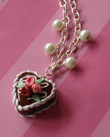 Choco Heart Cake Necklace by FatallyFeminine