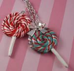 Christmas Lollipop Necklace