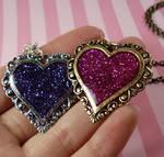 Romantic Glitter Heart Pendant