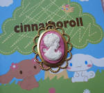 Pink Polymer Clay Cameo