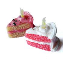 Birthday Cake Slice Charm by FatallyFeminine