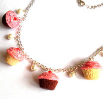 Homemade Cupcake Necklace by FatallyFeminine