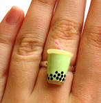 Green Boba Tea Ring