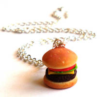 Cheeseburger Charm Necklace by FatallyFeminine