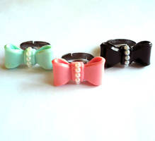 Vintage Inspired Bow Rings by FatallyFeminine