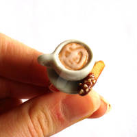 Latte Art and Biscotti Ring