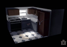 Mobile Home Kitchen by DrD-no