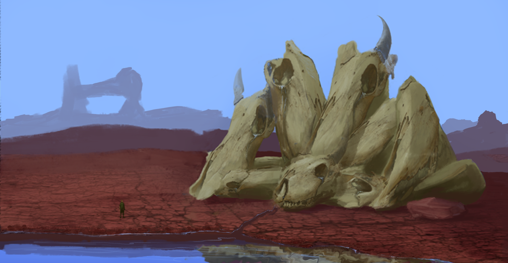 Weeping Skulls by DrD-no