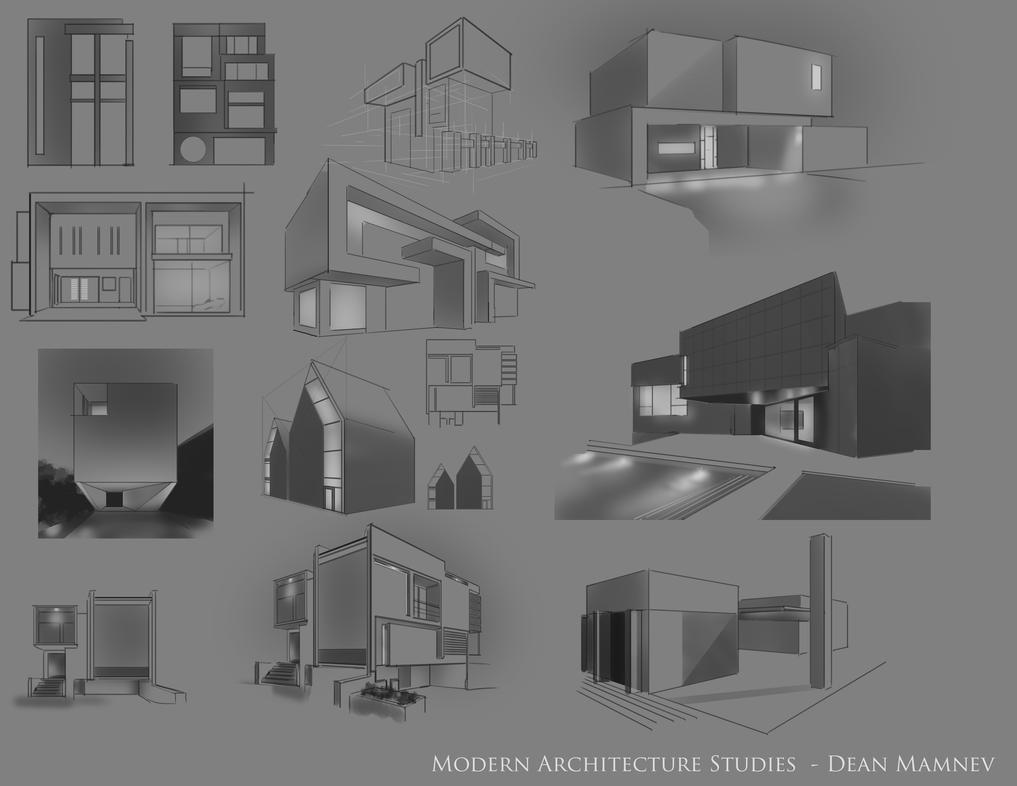 Modern Architecture sketches by DrD-no