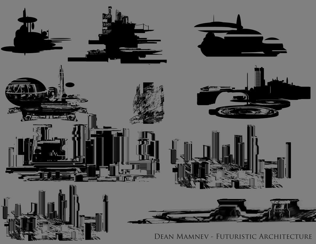 Futuristic Architecture 2 by DrD-no
