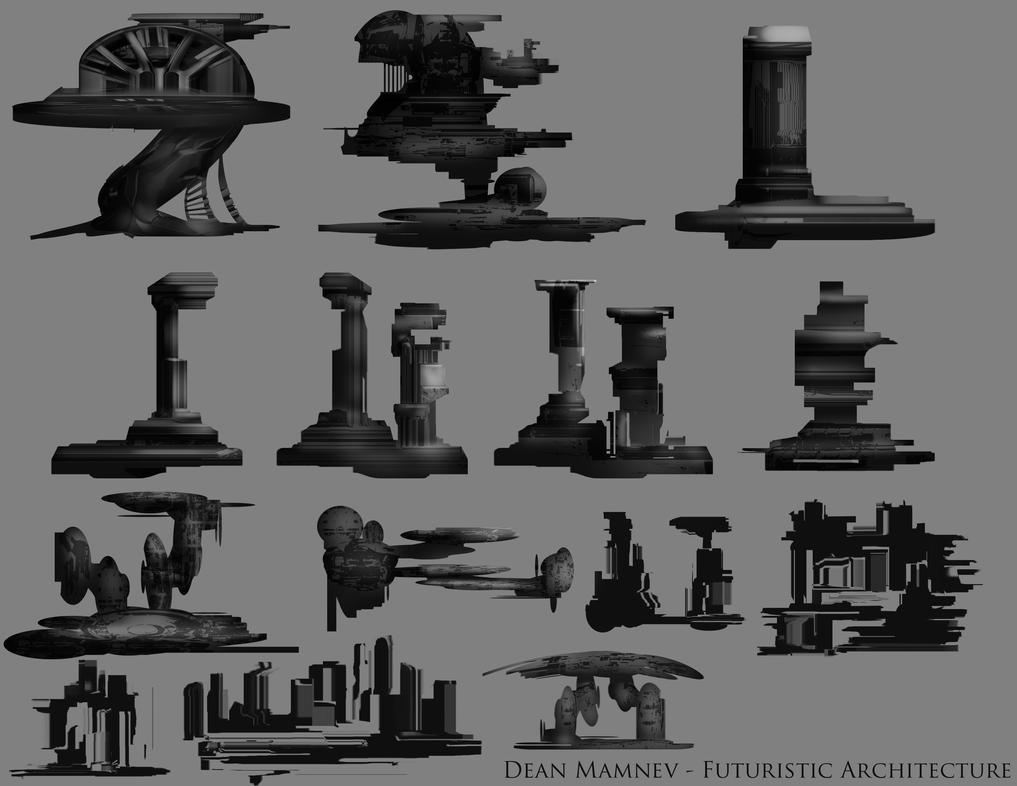 Futuristic Architecture 3 by DrD-no