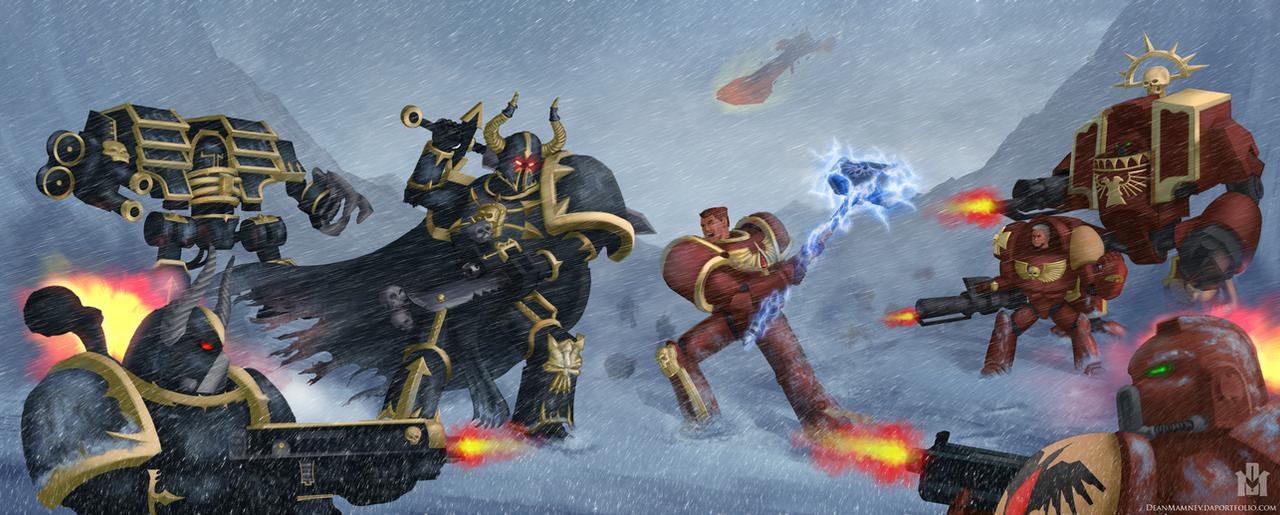 Araghast vs Blood Ravens by DrD-no