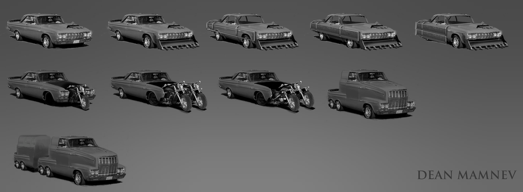 Car photobash sketches by DrD-no