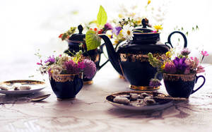 . : blooming tea time : . by Korpinkynsi