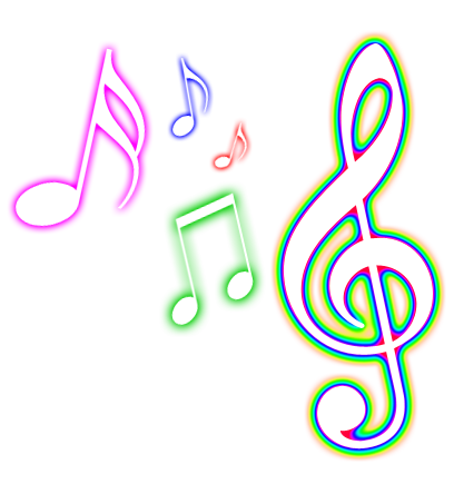 Glowing music note png by MaddieLovesSelly
