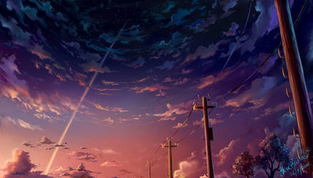 Endless sunset by AkubakaArts