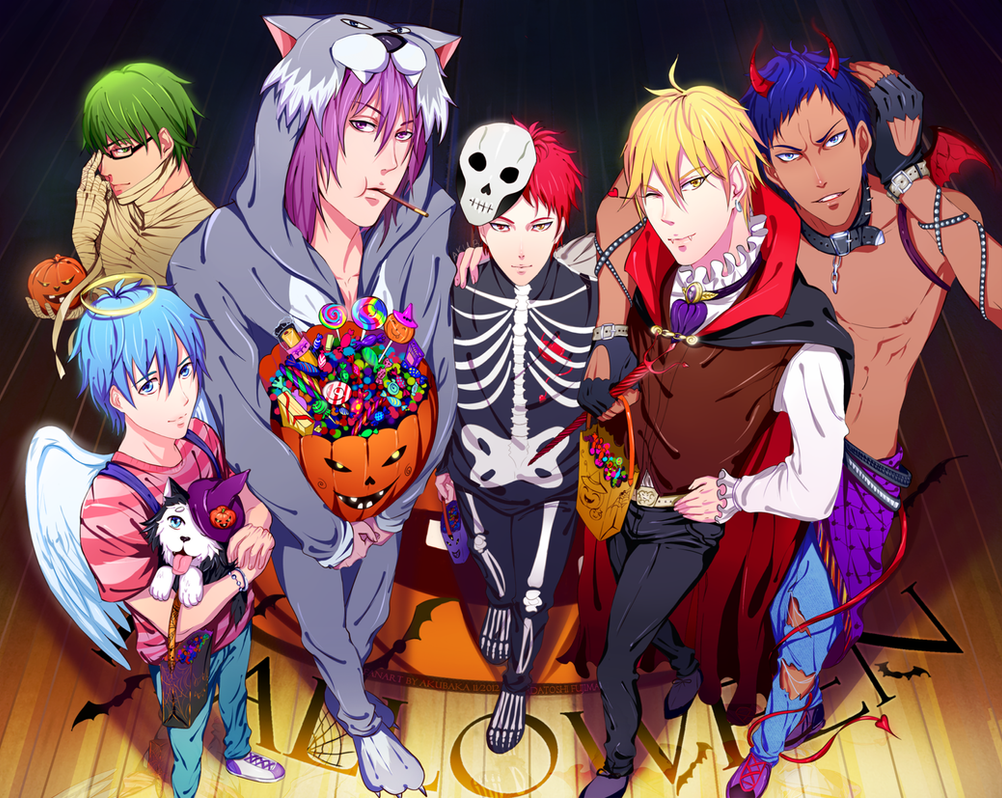 Halloweenparty with Kuroko by AkubakaArts